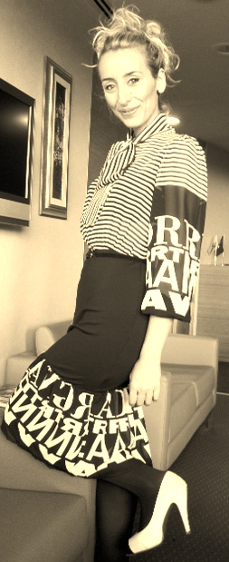 cizgili elbise stil